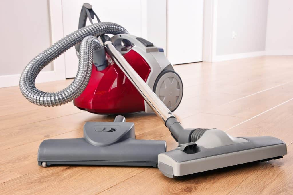 red and grey central vacuum